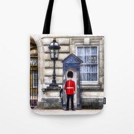 Buckingham Palace Queens Guard Art Tote Bag