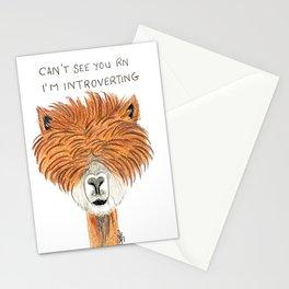 Introvert llama Stationery Cards