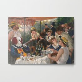 IT's Pennywise in Luncheon of the Boating Party Metal Print