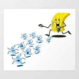 Sponge Attack! Art Print