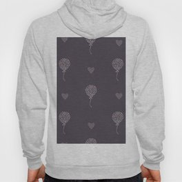Seamless Heart Air Balloon Pattern. Hand Drawn Design Hoody