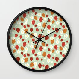 Strawberry Blossom Wall Clock