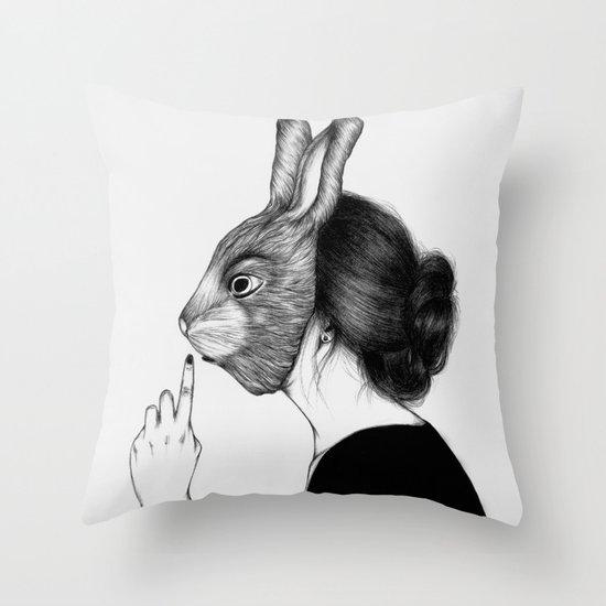 Peculiar III Throw Pillow