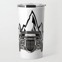 Hotrod with Bergen Custom Car Ami Car Car Travel Mug
