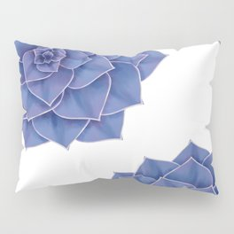 Elegant Big Purple Echeveria Design Pillow Sham