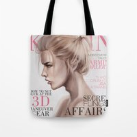 snk Tote Bags featuring SnK Magazine: Armin by emametlo