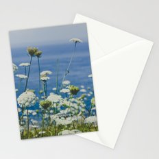 Flowers by the Beautiful Blue Sea Stationery Cards