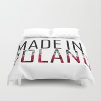 poland Duvet Covers featuring Made In Poland by VirgoSpice