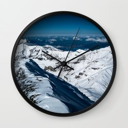 Snowy Alps Wall Clock