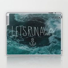 Let's Run Away - Ocean Waves Laptop & iPad Skin