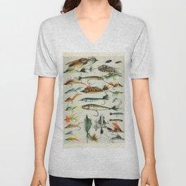 Fishing Lures Unisex V-Neck