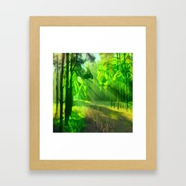 Abstract Forest 2 Framed Art Print