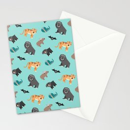 Jungle animals wilderness pattern tropics tropical Stationery Cards