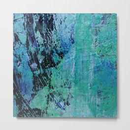 Wave of Green Metal Print