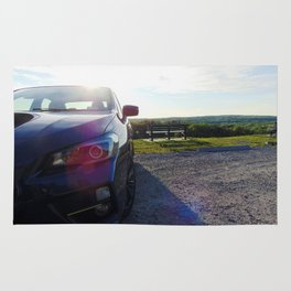 Subies and Sunsets Rug