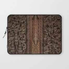 Ancient wooden carving Laptop Sleeve