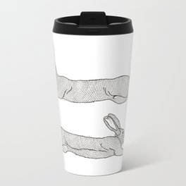 Flying Rabbits Metal Travel Mug