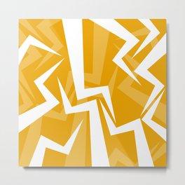 Lightning Series - Orange Metal Print