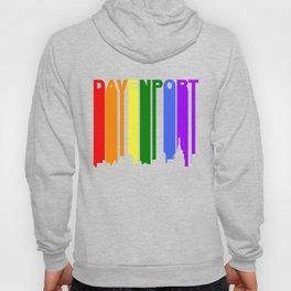 Davenport Iowa Gay Pride Rainbow Skyline Hoody