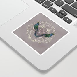 Endurance Crystal Grid in Mauve Sticker
