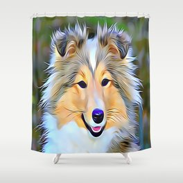 The Shetland Sheepdog Shower Curtain