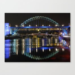 Night bright at Newcastle Canvas Print