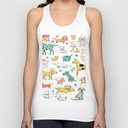 Dogs Dogs Dogs Unisex Tank Top