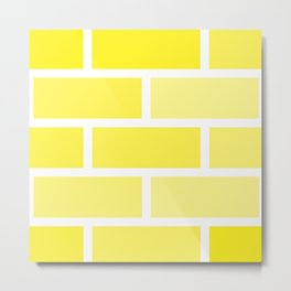 Yellow Brick Metal Print