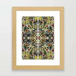 Colored Paisley Design Framed Art Print
