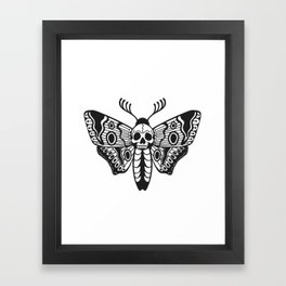 Death Moth Framed Art Print