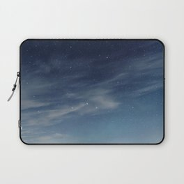 Night sky with stars and clouds Laptop Sleeve