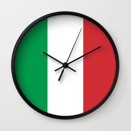 Flag of Italy, High Quality Image Wall Clock