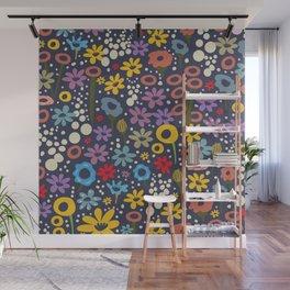 Vintage Floral Print Wall Mural