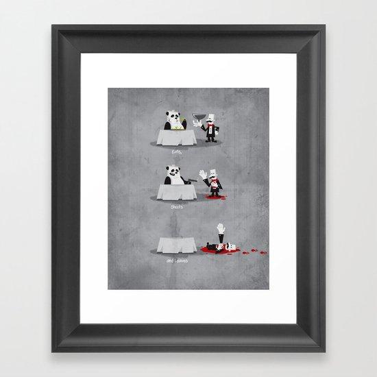Eating Habits of the Panda Framed Art Print
