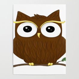 Animal owl graphic bird cute Poster