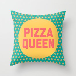 Pizza Queen Funny Quote (Graphic) Throw Pillow