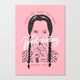 Wednesday Addams Eyes Canvas Print