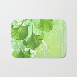Background with spring green leaves Bath Mat