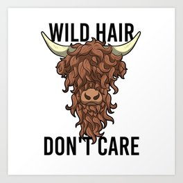 Wild Hair Don't Care Hipster Hairstyles Gift Art Print