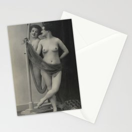 Victorian Vintage Showgirl Lady Erotic French Nude Postcard MIrror Stationery Cards