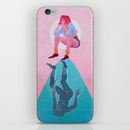 Fallen Into The Hypothetical Well iPhone Skin