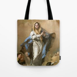 The Immaculate Conception by Giovanni Battista Tiepolo (c 1768) Tote Bag