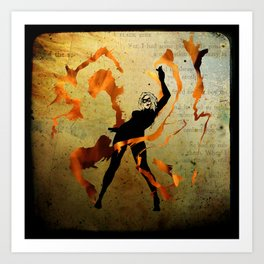 flame dancer Art Print