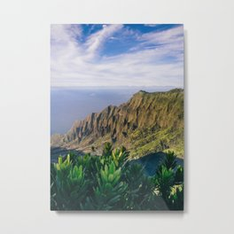 Na Pali Coast Kauai Hawaii Printable Wall Art | Tropical Beach Nature Ocean Coastal Travel Photography Print Metal Print