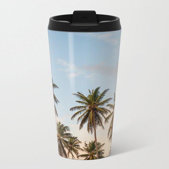Sky beach palmier Metal Travel Mug
