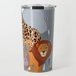 African Animals Festival Travel Mug