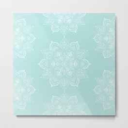 Winter Spirit Mint Metal Print