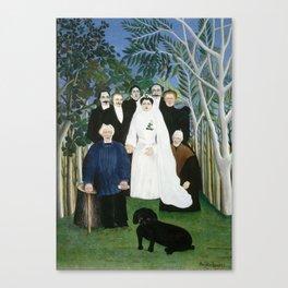 Henri Rousseau, The Wedding Party Canvas Print
