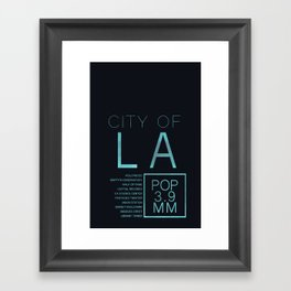 The City of Angels Framed Art Print