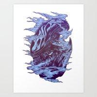 Run. Hide. Survive. Art Print